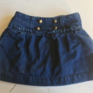 Girls Gap Jean Skirt with Buttons